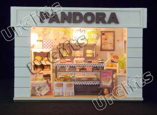 Miniature Model DIY Kit w Light Cake Bakery Shop Store Pandora