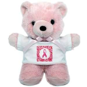 Teddy Bear Pink Cancer Pink Ribbon Flower