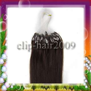 22Easy Loop Micro Ring Human Hair Extensions100s #02