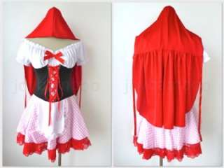 Sexy Red Riding Hood Dress Fancy Party Halloween Costume