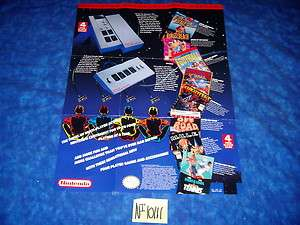 NES Nintendo INSERT for NINTENDO ENTERTAINMENT SYSTEM   4 PLAYER GAMES