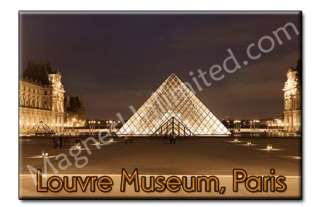 Louvre Museum   PARIS FRANCE Souvenir Fridge Magnet #1