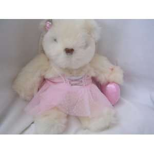 Fairy Teddy Bear Ballerina with Pink Valentine Heart 12