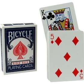 New Magic Blue Bicycle Rising Playing Cards Deck Trick