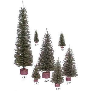Club Pack of 24 Carmel Pine Christmas Trees with Pinecones