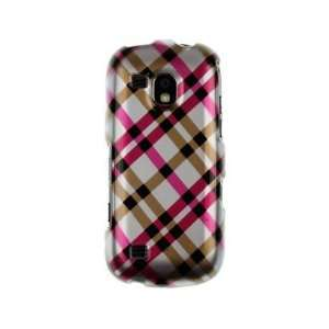 Hard Plastic Phone Protector Cover Case Hot Pink Plaid For