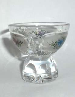 ANTIQUE ART DECO CUT CRYSTAL GLASS DECANTER CUP FLORAL