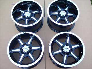 14 YAMAHA RHINO B6 ATV ALUMINUM WHEELS NEW SET 4   LIFETIME WARRANTY
