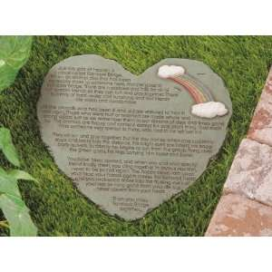 Rainbow Bridge Poem Stepping Stone Patio, Lawn & Garden