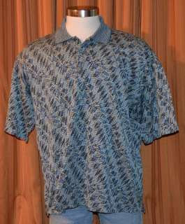 SHORT SLEEVE BLUE GREEN WHITE COTTON CASUAL POLO SHIRT MENS XL
