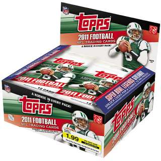 NFL Topps Cards Topps 2011 NFL Retail Trading Cards   16 Pack