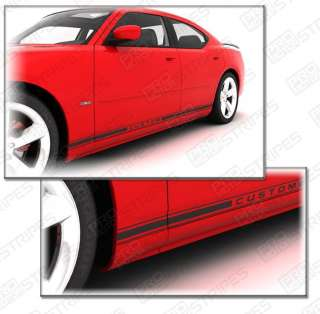 Dodge Charger Rocker Panel Stripe Decal Kit 2006 2010