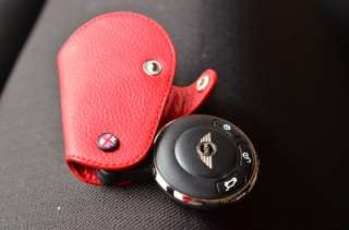 Leather Key Fob for JCW R55 R56 R60 R58 coupe Mini cooper countryman