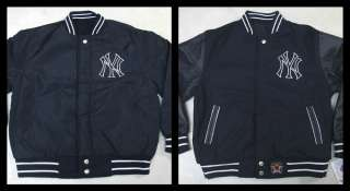 MLB Reversible New York Yankees Wool Blend NY Jacket w/ Leather