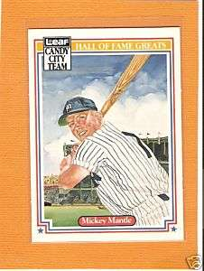 Mickey Mantle 1987 Leaf Hall Of Fame Greats Card Nrmt