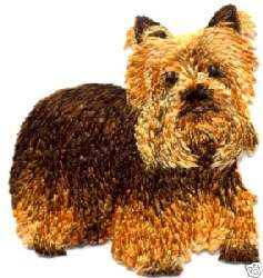 YORKSHIRE TERRIER EMBROIDERED DOG IRON ON APPLIQUE