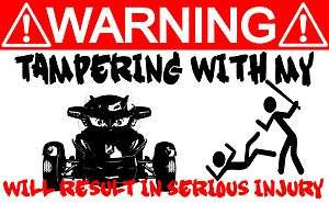 2011 Can Am Spyder RT Trike Motorcycle FARING WARNING FENDER DECAL