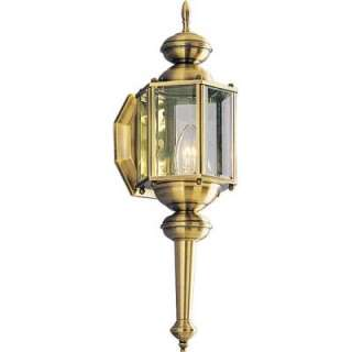 Progress Lighting BrassGUARD Collection Antique Brass 1 Light Wall