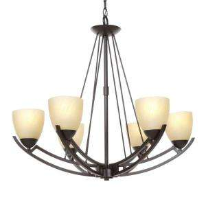 Hampton Bay Altham 6 Light 87 in. Bronze Chandelier 27703 at The Home