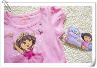Girls Kids Dora SZ1 7Y Costume Summer Fancy Dress Tutu Skirt Outfit