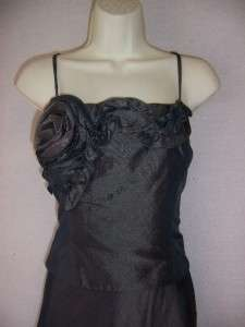 KM COLLECTIONS Green Gray Taffeta Formal Gown Dress & Bolero Jacket 6