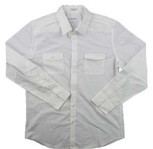 NEW CALVIN KLEIN CK MENS White WESTERN LONG SLEEVE SHIRT SIZE XXL $58