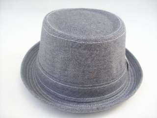 Peter Grimm Grey Cotton Pork Pie Styled Casual Hat   Matrix