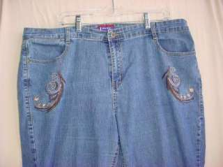 Westport Woman   Plus Size Womens Stretch Jeans   Size 18W   meas
