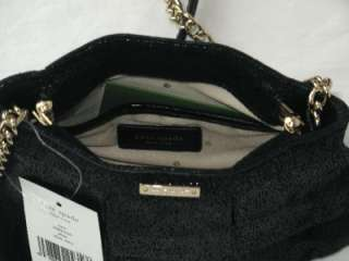 NWT KATE SPADE BLACK LEATHER PLISSE NATE CROSSBODY BAG