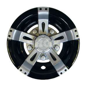 Universal Golf Cart Chrome Hub Cap / Wheel Cover for standard 8