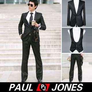 New Mens Stylish Slim Fit One Button Suit Formal V8