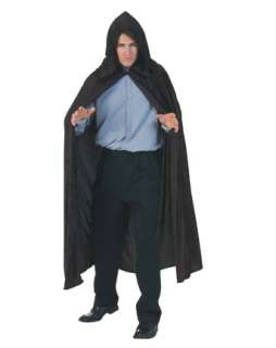Hooded Velvet Black Cape Costume  Wholesale Vampire Halloween Costume