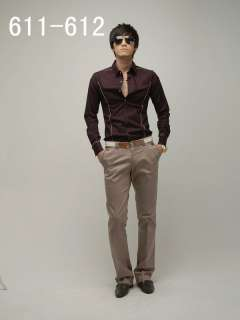 ON MOON FANCYQUBE STYLISH SLIM FIT STRAIGHT PANTS MF 1265