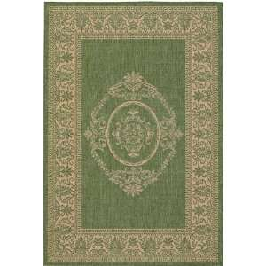 /1812 23 x 119 Green / Natural Runner Area Rug Furniture & Decor