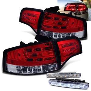 05 08 Audi A4 S4 LED Tail Lights + LED Bumper Fog Lights Brand New