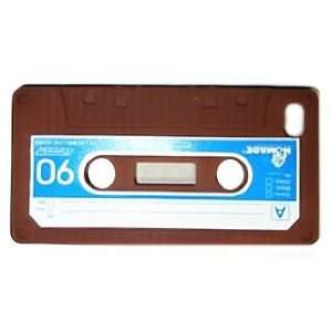 Brown Cassette Tape Style Design Soft Silicone Skin Gel Cover Case