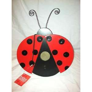 Hand Painted Lady Bug   Bird House