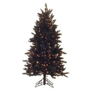 Black Ashley Spruce 54 Artificial Slim Christmas Tree