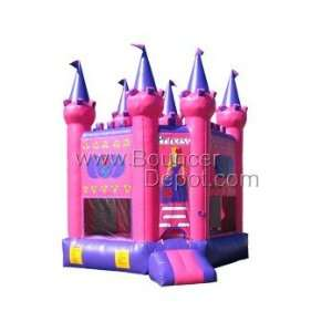 Pink Princess Castle Commercail Bounce House Toys & Games