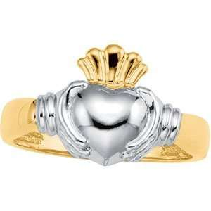 14K Two Tone Gold Claddagh Duo Ring DivaDiamonds Jewelry