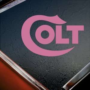 COLT FIREARMS Pink Decal Car Truck Bumper Window Pink