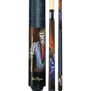 com Artistic Series Grim Reaper/Flaming 8 Ball 58 Two Piece Pool Cue