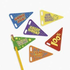 com Reward Pencil Pennants   Basic School Supplies & Erasers & Pencil