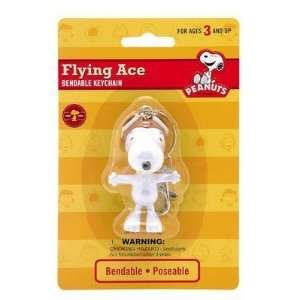 Peanuts Snoopy Flying Ace Bendable Keychain zipper pull Toys & Games