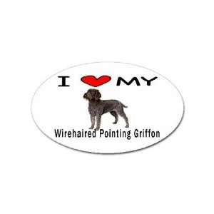 Love My Wirehaired Pointing Griffon Oval Magnet