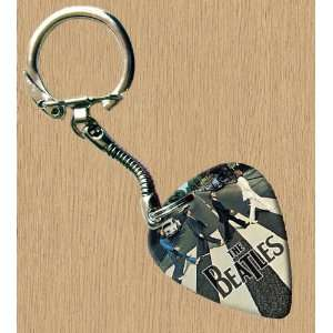 Beatles Abbey Road Premium Guitar Pick Keyring Musical Instruments