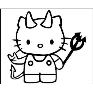 com 8 Vinyl Decal   Hello Kitty Devil   Car, Truck, Notebook, Laptop