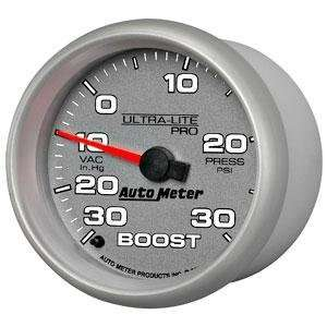 Ultra Lite Pro 2 5/8 30 in Hg. 30 PSI Boost Vacuum Gauge Automotive