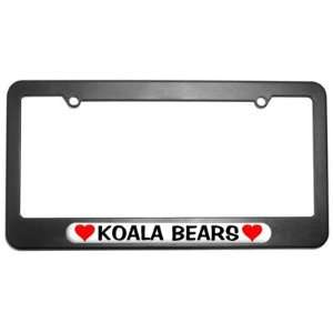Koala Bears Love with Hearts License Plate Tag Frame