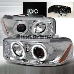 00 06 GMC Denali Projector Headlights   Chrome Blue Lens Automotive